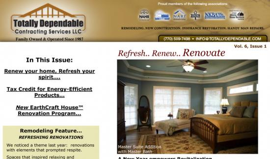 Winter 2008 Newsletter - Renew - Renovate Tax Credits & Green Remodeling